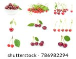 collection of cherry | Shutterstock . vector #786982294