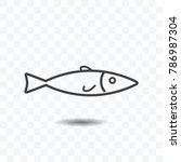 fish icon vector illustration... | Shutterstock .eps vector #786987304