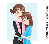adult mother and teenage... | Shutterstock .eps vector #78698803