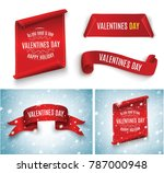 valentine's day. red scroll. a... | Shutterstock .eps vector #787000948