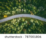 aerial view of car driving... | Shutterstock . vector #787001806