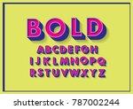 bold typography design vector | Shutterstock .eps vector #787002244