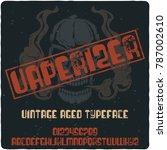 vintage label typeface named ... | Shutterstock .eps vector #787002610