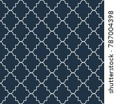 quatrefoil seamless blue vector ... | Shutterstock .eps vector #787004398
