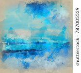 watercolour painting of... | Shutterstock . vector #787005529