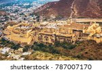 amber fort aerial view with... | Shutterstock . vector #787007170