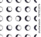 moon seamless pattern.... | Shutterstock . vector #787011076