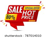 sale banner template red | Shutterstock .eps vector #787014010