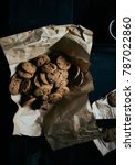 chocolate chip cookies on... | Shutterstock . vector #787022860