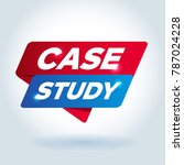 case study arrow tag sign. | Shutterstock .eps vector #787024228