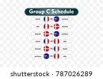 russia 2018. match schedule... | Shutterstock .eps vector #787026289