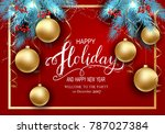 holidays greeting card for... | Shutterstock .eps vector #787027384