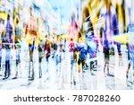 Colorful Silhouette People City  - Fine Art prints