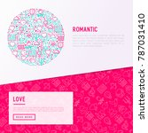 romantic concept in circle with ... | Shutterstock .eps vector #787031410