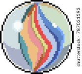 vector pixel art glass mable... | Shutterstock .eps vector #787031593