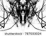 grunge black paint.isolated on... | Shutterstock . vector #787033024