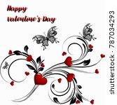 saint valentines day heart... | Shutterstock .eps vector #787034293