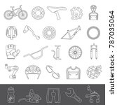 line icons   bicycle parts and... | Shutterstock .eps vector #787035064