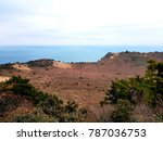 edge of the cliff  | Shutterstock . vector #787036753