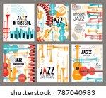 vector set poster for the jazz...   Shutterstock .eps vector #787040983