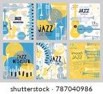 vector set poster for the jazz... | Shutterstock .eps vector #787040986