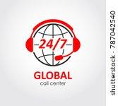 global call center flat style... | Shutterstock .eps vector #787042540