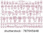 vector flat kids graphics... | Shutterstock .eps vector #787045648