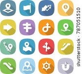 flat vector icon set   pointer... | Shutterstock .eps vector #787051510