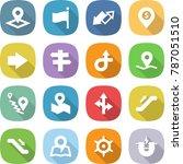 flat vector icon set   pointer... | Shutterstock .eps vector #787051510