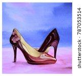 watercolor illustration of... | Shutterstock . vector #787053514