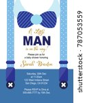 baby boy shower invitation card | Shutterstock .eps vector #787053559