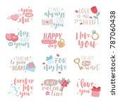 happy valentine's day... | Shutterstock .eps vector #787060438