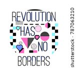 stylish trendy slogan tee t... | Shutterstock .eps vector #787063210