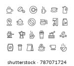 simple set of coffee related... | Shutterstock .eps vector #787071724