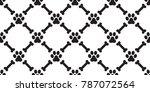 dog paw seamless pattern dog...   Shutterstock .eps vector #787072564
