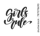 vector handdrawn feminism quote ... | Shutterstock .eps vector #787078690