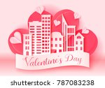 valentine's day 3d abstract... | Shutterstock .eps vector #787083238