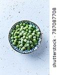 frozen peas in a bowl   Shutterstock . vector #787087708