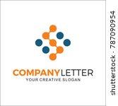company logo  digital  internet ... | Shutterstock .eps vector #787090954