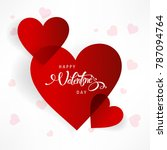 happy valentines day typography ... | Shutterstock .eps vector #787094764