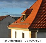 roof with dormer windows on a... | Shutterstock . vector #787097524