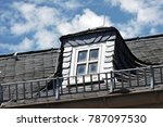 roof with dormer windows on a... | Shutterstock . vector #787097530
