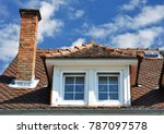 roof with dormer windows on a... | Shutterstock . vector #787097578