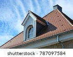 roof with dormer windows on a... | Shutterstock . vector #787097584