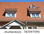 roof with dormer windows on a... | Shutterstock . vector #787097590