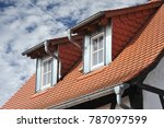 roof with dormer windows on a...   Shutterstock . vector #787097599