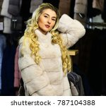 rich fashion concept. lady... | Shutterstock . vector #787104388
