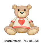 cute  sitting  bear isolated... | Shutterstock . vector #787108858