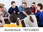 smiling russian classmates... | Shutterstock . vector #787116823