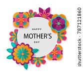 happy mother's day layout...   Shutterstock .eps vector #787121860